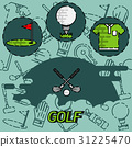 Golf flat concept icons 31225470
