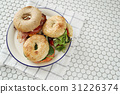 Bagel sandwiches 31226374