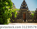 Bali Temple on the shores of the Indian Ocean 31230578