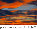 Colorful sunset in the Indian ocean 31230674