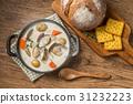 蛤蜊浓汤 汤 食物 31232223