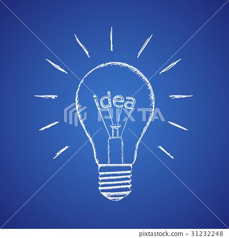 lamp idea. Stock illustration. 31232248