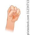 手 握拳 好 31234713