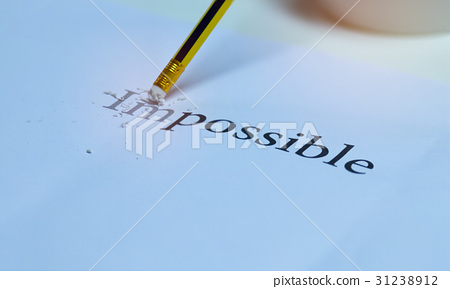 eraser and changing word impossible with pencil 31238912