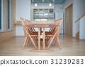 LDK (식당 거실 주방 테이블 단단한 참나무 목재 나라 재 냉장고 내 홈 집) 31239283
