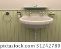 Washbasin in toilet room interior 31242789