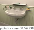 Washbasin in toilet room interior 31242790
