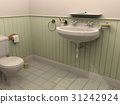 Toilet room interior with wash basin 31242924
