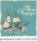 Vintage sailing ship 31245156