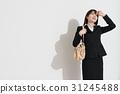 비즈니스 우먼, 여름, 뜨거운 햇빛 열사병 31245488