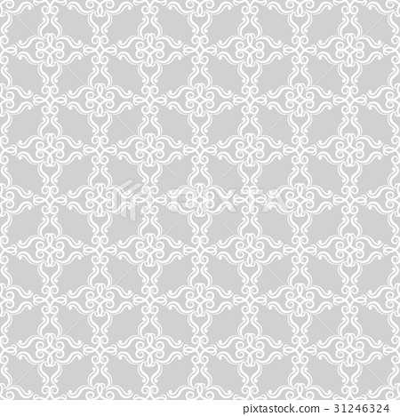 Abstract ornaments. Gray seamless pattern 31246324