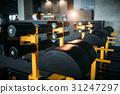 Gym nobody, empty fitness club 31247297