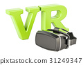 Virtual reality glasses concept, 3D rendering 31249347