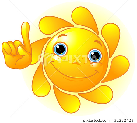 Cute Sun Pointing Up 31252423