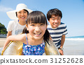 在暑假期間,使用在海的家庭 31252628