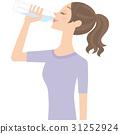 물을 마시는 여성 31252924