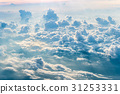 Blue sky with clouds background and sunlight  31253331