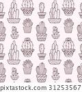 cactus, sketch, set 31253567