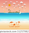 Beautiful beach Summer offers Vector illustration 31257062