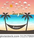 Beautiful beach Summer offers Vector illustration 31257069