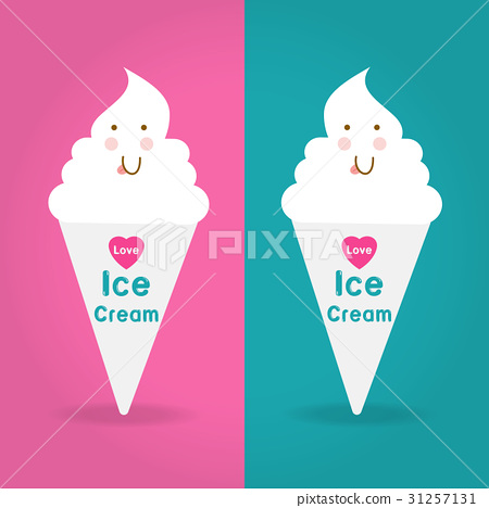 Love Ice Cream Logo on two color ways  31257131