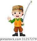 Cartoon man fishing 31257279