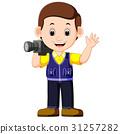 Cute cartoon a cameraman 31257282