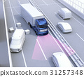 高速公路 轨迹 大型卡车 31257348