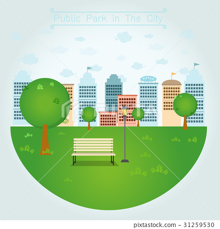 Public Park in The City 31259530