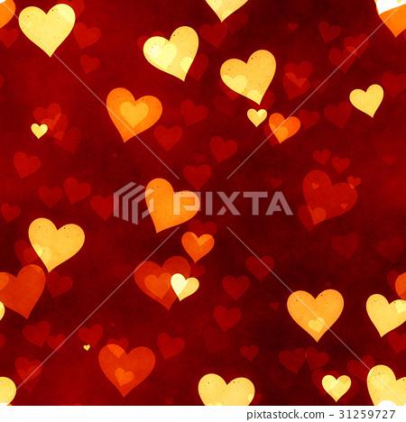 鮮豔細緻的愛心特寫紋理背景(無縫接圖,高解析度 2D CG 渲染∕著色插圖) 31259727