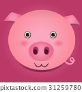 Vector image of a pig head 31259780