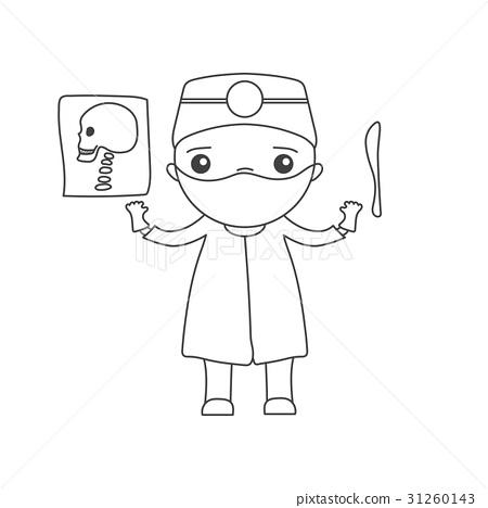 Cute cartoon doctor 31260143