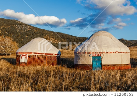 White Yurt - Nomad's tent is the national dwelling 31260355
