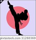 Martial arts. Karate fighter silhouette scene. 31260369