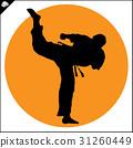 Martial arts. Karate fighter silhouette scene. 31260449