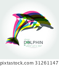 Dolphin icon design element 31261147