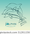 Dolphin icon design element 31261156
