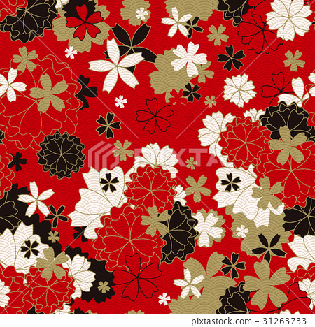 Japanese classic floral seamless pattern 31263733