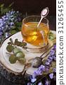 Herbal tea,  eucalyptus and flowering wisteria 31265455