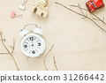 Top view car house rope white clock and tree . 31266442