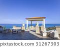 Sea view from balcony of Mediterranean resort 31267303