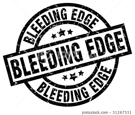 bleeding edge round grunge black stamp 31267331