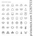 Headwear icon set 31267553