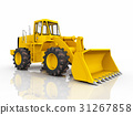 Loader against a white background 31267858