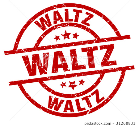 waltz round red grunge stamp 31268933