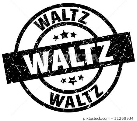 waltz round grunge black stamp 31268934