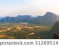 view on Pha Ngern Mountain at Vang Vieng, Laos 31269514