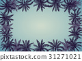 Frame of Silhouette palm tree with vintage filter 31271021