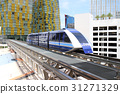las vegas, monorail, city 31271329