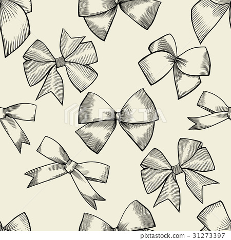 Seamless pattern with bow 31273397